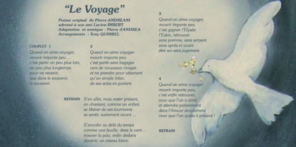 Le voyage par Pier d'Andréa