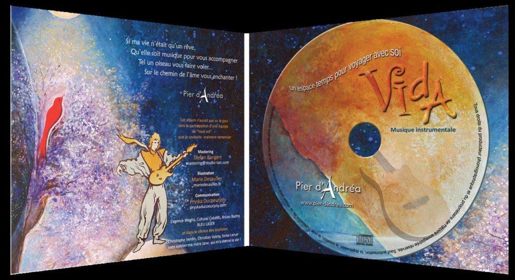 Pochette interieure album VIDA PIER DANDREA